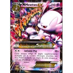 carte Pokémon 64/162 Méga Mewtwo EX (Y) 210 PV XY - Impulsion Turbo NEUF FR