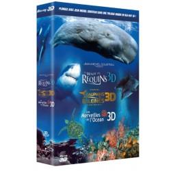 Le Monde des requins 3D + Le monde des dauphins et des baleines, nomades des mers 3D + Les merveilles de l'Océan 3D