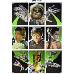 carte TOPPS STAR WARS  Puzzle complet 125-133 Force Attax NEUF FR