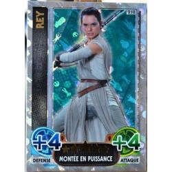 carte TOPPS STAR WARS 210/224 Rey Holographique SW Force Attax NEUF FR
