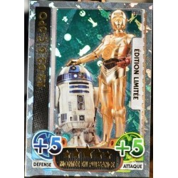 carte TOPPS STAR WARS 227/224 LEDA R2-D2 & C-3PO Ed. Limitée Force Attax NEUF FR
