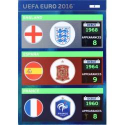 carte PANINI EURO 2016 #2 ENG - ESP - FRA