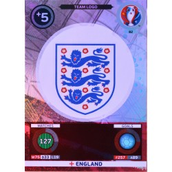 carte PANINI EURO 2016 #82 Team Logo England