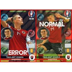 carte PANINI EURO 2016 #349_2 Taulant Xhaka MISPRINT