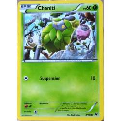 carte Pokémon 2/124 Cheniti 60 PV XY - Impact des Destins NEUF FR