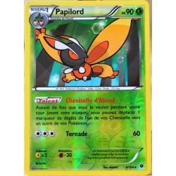 carte Pokémon 4/124 Papilord 90 PV - REVERSE XY - Impact des Destins NEUF FR