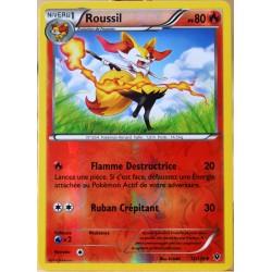 carte Pokémon 12/124 Roussil 80 PV - REVERSE XY - Impact des Destins NEUF FR