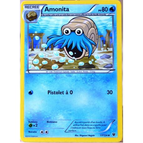 carte Pokémon 17/124 Amonita 80 PV XY - Impact des Destins NEUF FR