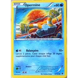 carte Pokémon 22/124 Opermine 60 PV XY - Impact des Destins NEUF FR