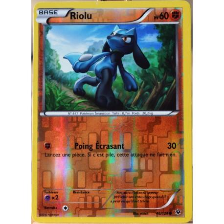 carte Pokémon 46/124 Riolu 60 PV - REVERSE XY - Impact des Destins NEUF FR
