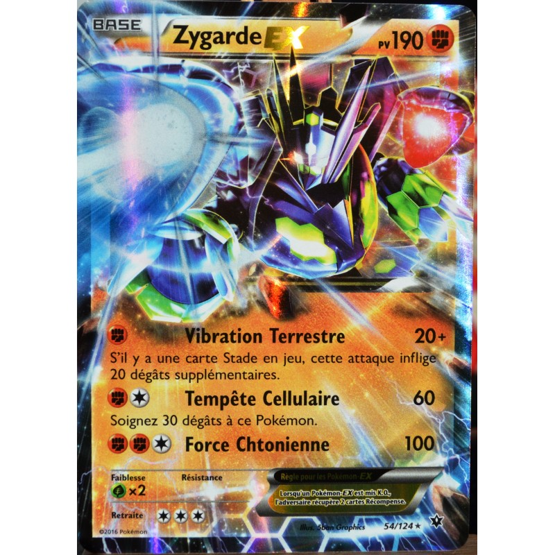 Carte pok mon 54 124 zygarde ex 190 pv ultra rare xy - Photo de pokemon rare ...
