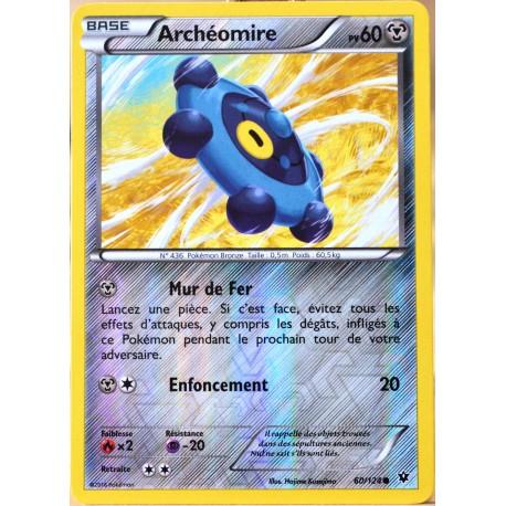 carte Pokémon 60/124 Archéomire 60 PV - REVERSE XY - Impact des Destins NEUF FR