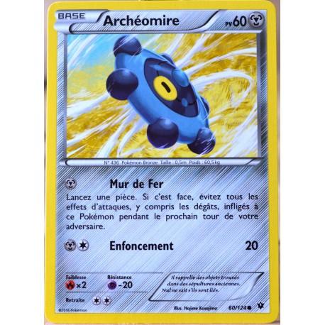 carte Pokémon 60/124 Archéomire 60 PV XY - Impact des Destins NEUF FR