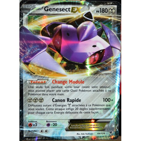carte Pokémon 64/124 Genesect EX 180 PV - ULTRA RARE XY - Impact des Destins NEUF FR