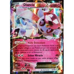 carte Pokémon 72/124 Diancie EX 150 PV - ULTRA RARE XY - Impact des Destins NEUF FR