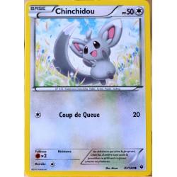 carte Pokémon 87/124 Chinchidou 50 PV XY - Impact des Destins NEUF FR