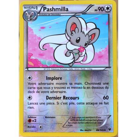 carte Pokémon 88/124 Pashmilla 90 PV - REVERSE XY - Impact des Destins NEUF FR