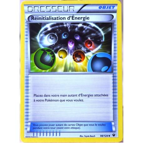 carte Pokémon 98/124 Réinitialisation d'Energie XY - Impact des Destins NEUF FR