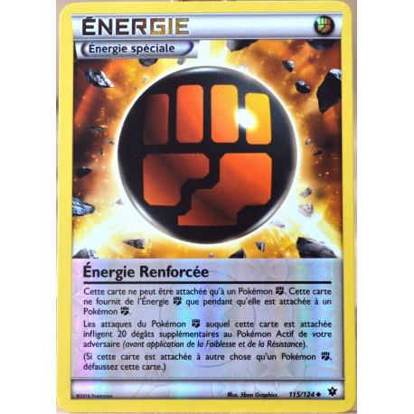 carte Pokémon 115/124 Energie Renforcée (Energie Combat) REVERSE XY - Impact des Destins NEUF FR