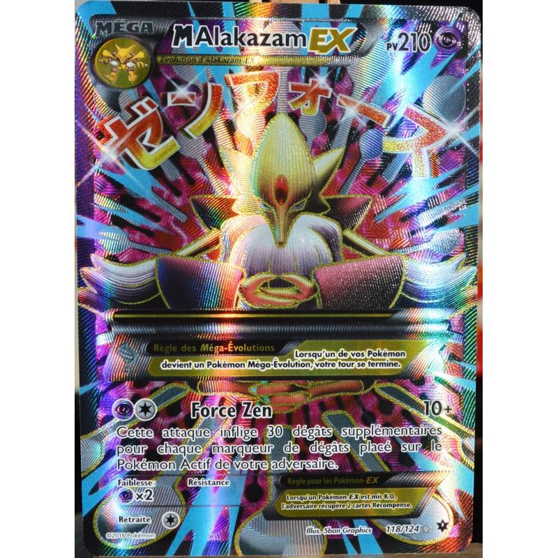 Bekannt carte Pokémon 118/124 Mega Alakazam EX 210 PV - FULL ART XY  JR52