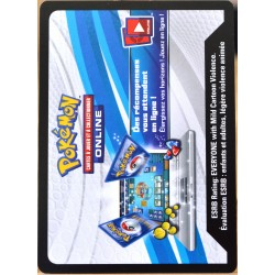 JCC Pokémon Collection Bleu & Rouge - Tortank-EX Codes (NEUF non utilisé)