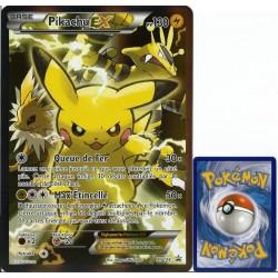 carte Pokémon XY124 Pikachu EX JUMBO 130 PV - FULL ART Promo NEUF FR