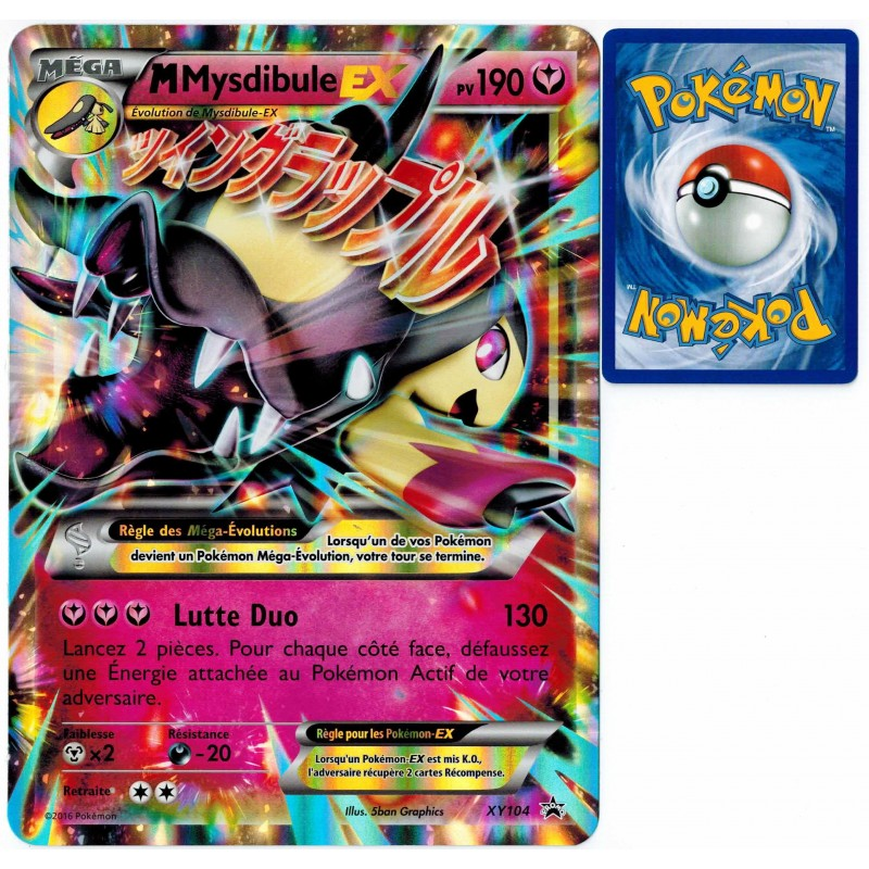 Carte pok mon xy104 mega mysdibule ex jumbo 190 pv promo neuf fr clicandsell - Carte pokemon mega evolution ex ...