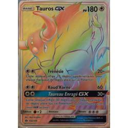 carte Pokémon 156/149 Tauros GX - FULL ART SECRETE SM1 - Soleil et Lune NEUF FR