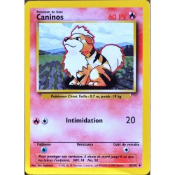 carte Pokémon 28/102 Caninos 60 PV Set de base NEUF FR