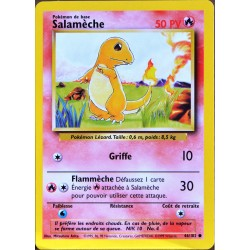 carte Pokémon 46/102 Salamèche 50 PV Set de base NEUF FR