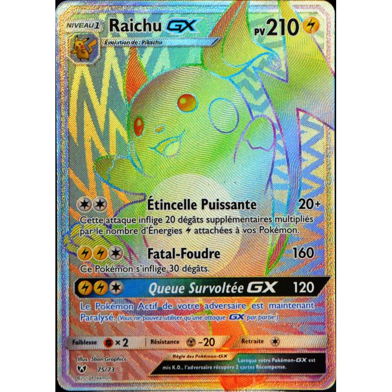 Carte pok mon 75 73 raichu gx 210 pv secrete full art - Carte pokemon ex et gx ...