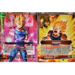carte Dragon Ball Super P-025-PR Prince Destructeur Vegeta, frappe malfaisante