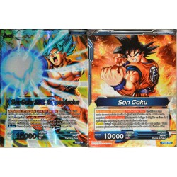 carte Dragon Ball Super P-026-PR Son Goku SSB, frappe résolue