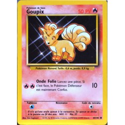 carte Pokémon 68/102 Goupix 50 PV Set de base NEUF FR