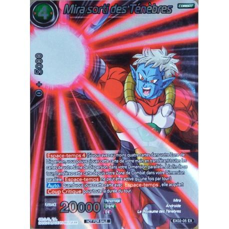 carte Dragon Ball Super EX02-05-EX Mira sorti des Ténèbres NEUF FR