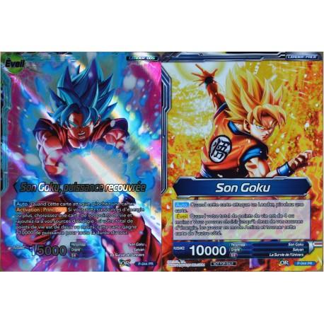 carte Dragon Ball Super P-044-PR Son Goku & Son Goku, puissance recouvrée NEUF FR