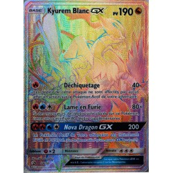 carte Pokémon 74/70 Kyurem Blanc GX 190 PV - SECRETE SL7.5 - Majesté des Dragons NEUF FR