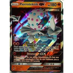 carte Pokémon 52/214 Pierroteknik GX 180 PV SL8 - Soleil et Lune - Tonnerre Perdu NEUF FR