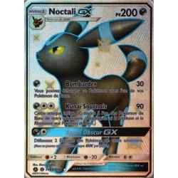 carte Pokémon SV69/68 Noctali GX 200 PV - SHINY SL11.5 - Soleil et Lune - Destinées Occultes NEUF FR