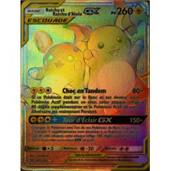 carte Pokémon 241/236 Raichu & Raichu d'Alola GX (Escouade) SL11 - Soleil et Lune - Harmonie des Esprits NEUF FR