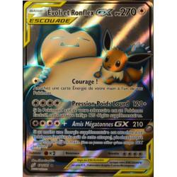 carte Pokémon 171/181 Evoli & Ronflex GX SL9 - Soleil et Lune - Duo de Choc NEUF FR
