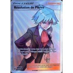 carte Pokémon 165/168 Résolution de Pierre SL7 - Soleil et Lune - Tempête Céleste NEUF FR