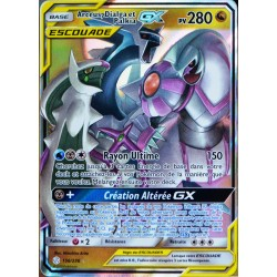 carte Pokémon 156/236 Arceus, Dialga & Palkia GX (Escouade) SL12 - Soleil et Lune - Eclipse Cosmique NEUF FR