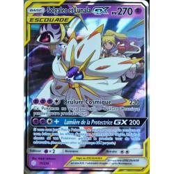 carte Pokémon 75/236 Solgaleo & Lunala GX (Escouade) SL12 - Soleil et Lune - Eclipse Cosmique NEUF FR