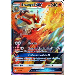 carte Pokémon 28/168 Braségali GX SL7 - Soleil et Lune - Tempête Céleste NEUF FR