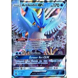 carte Pokémon 31/168 Artikodin GX SL7 - Soleil et Lune - Tempête Céleste NEUF FR