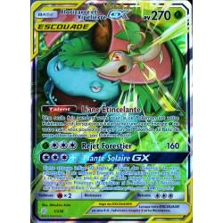 carte Pokémon 1/236 Florizarre & Vipélierre GX (Escouade) SL12 - Soleil et Lune - Eclipse Cosmique NEUF FR