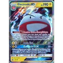 carte Pokémon 48/168 Electrode GX SL7 - Soleil et Lune - Tempête Céleste NEUF FR