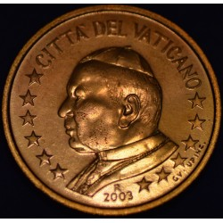 5 CENT VATICAN 2003 BU 65.000 EX.