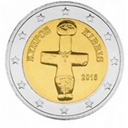 2 EURO CHYPRE 2015 UNC 100.000 EX.